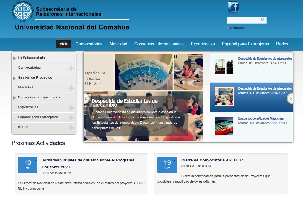 subsecretaria de relaciones internacionales pagina web