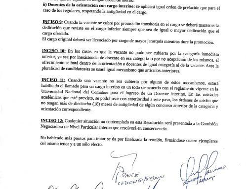 Se reunió el pasado jueves 27 de diciembre la Comisión Negociadora del Nivel Particular del Convenio Colectivo de Trabajo para el personal Docente de la Universidad Nacional del Comahue. #UNCo #UNComa.