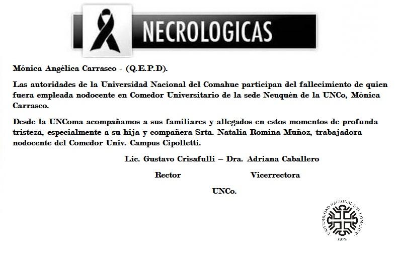 Mónica Angélica Carrasco – (Q.E.P.D).